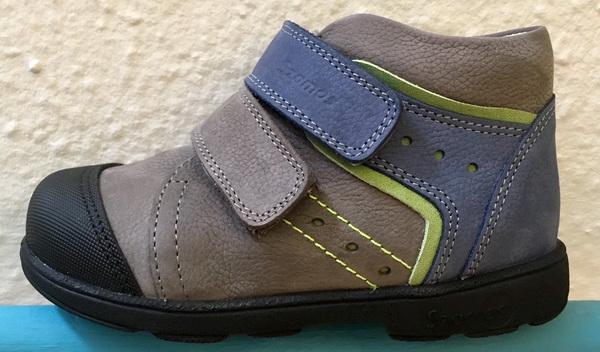 Szamos supinált átmeneti cipő bőr béléssel  szürke-kék-zöld. 55d2049f35